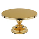 Cake Stand - 12 inch Gold Plated Flat Top Pedestal