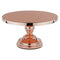 Cake Stand - 12 inch Rose Gold Plated Flat Top Pedestal