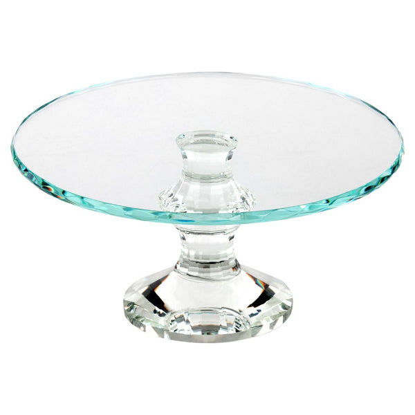Cake Stand - 12 inch Crystal Glass Cake Pedestal