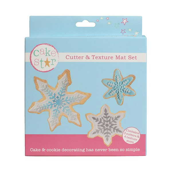 Snowflakes - Cookie Cutter & Texture Mat Set - Cake Star