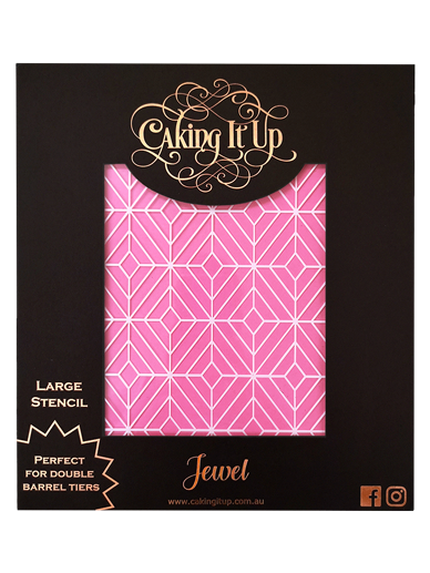 Jewel Cake Stencil - Caking It Up