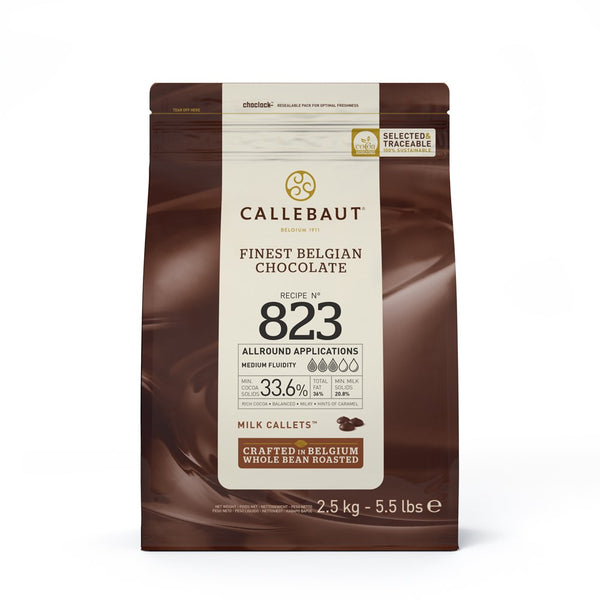 Callebaut Milk Couverture Chocolate Callets (Melts) 33.6% - 2.5kg