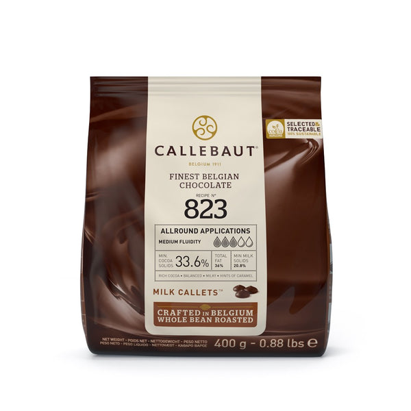 Callebaut Milk Couverture Chocolate Callets (Melts) 33.6% - 400g