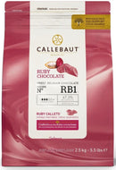 Callebaut Ruby Couverture Chocolate Callets 47.3% - 2.5kg