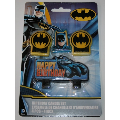 Batman Candle Set 4 Pc