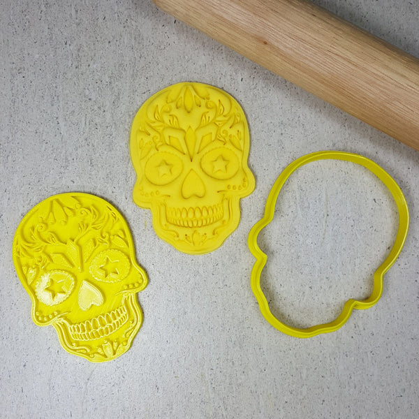 Embosser & Cutter Set -Candy Skull Heart Eyes