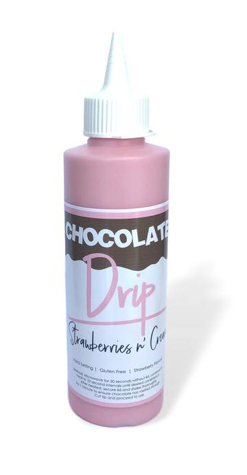 Strawberries & Cream Chocolate Drip 250g