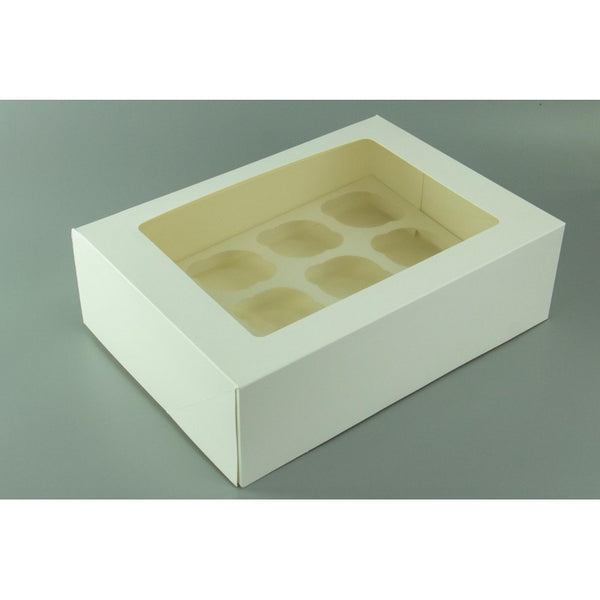 Cupcake Box - 12 Hold - White