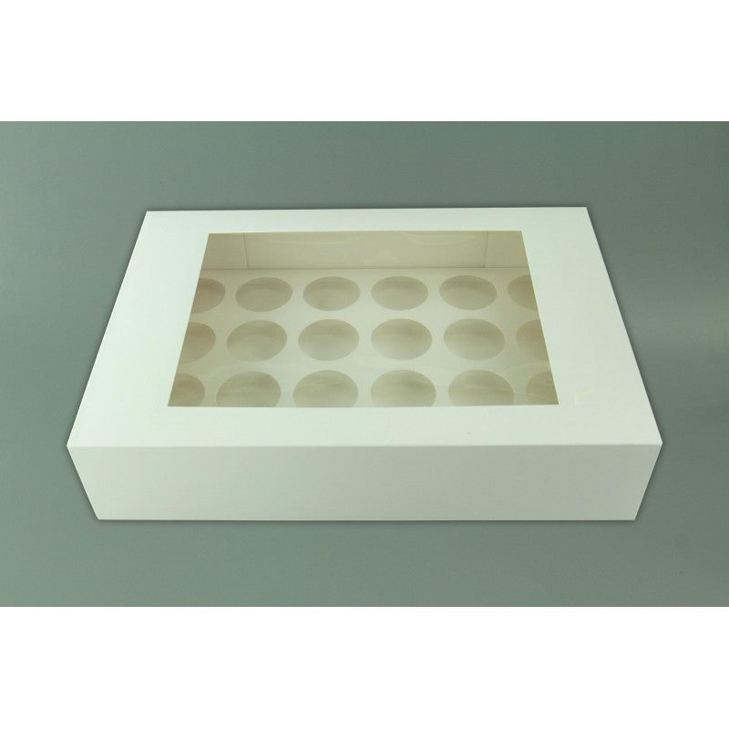 Cupcake Box - 24 Hold - White