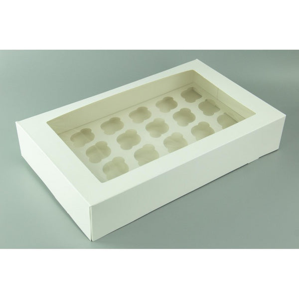 Cupcake Box Mini - 24 Hold - White