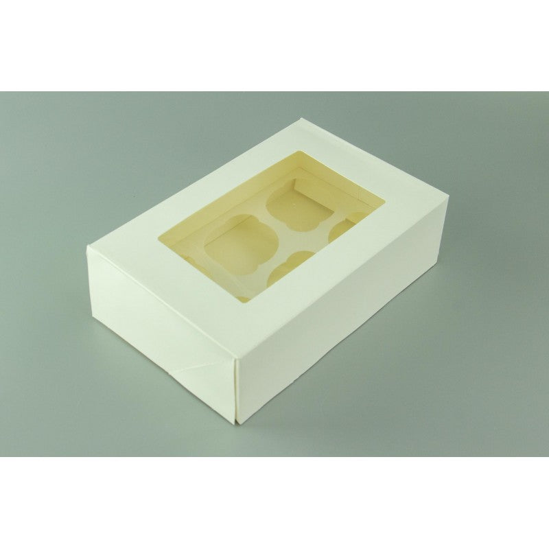 Cupcake Box - 6 Hold - White