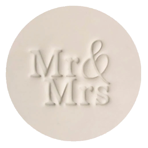 Embosser & Cutter Set - Mr & Mrs - by Little Biskut