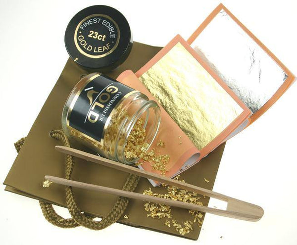 Decorator 23ct Gold & Silver Leaf Gift Set - Edible - Connoisseur Gold