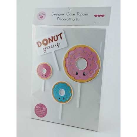 Donut - Printed Acrylic Cake Topper Set