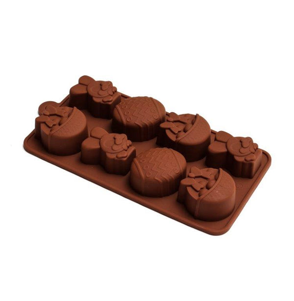 Easter Silicone Chocolate Mould - Bunny, Basket, Egg