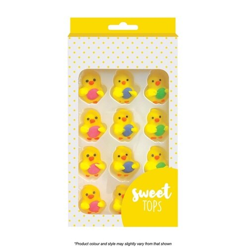 Chick with Egg Sugar Decorations - Sweet Tops