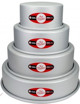 Round Cake Pan - Set of 4 - 6,8,10,12 inch - Fat Daddio
