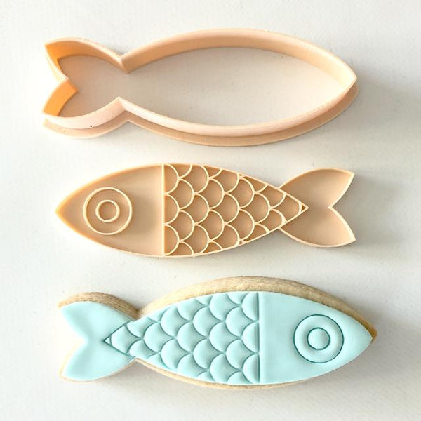 Embosser & Cutter Set - Fish - by Little Biskut