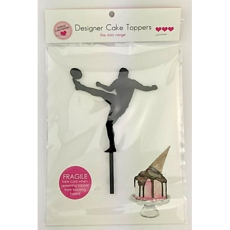 Aussie Rules Football - Silhouette Mini Acrylic Cake Topper