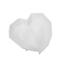 Silicone Mould / Cake Pan - Large Geometric Heart 3D