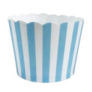 Blue Stripe Baking Cups - Shmick