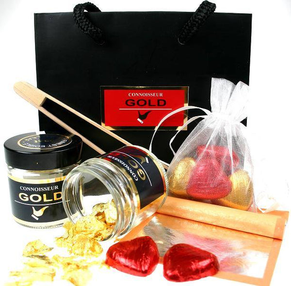 Ultimate 23ct Gold & Silver Leaf Gift Set - Connoisseur Gold
