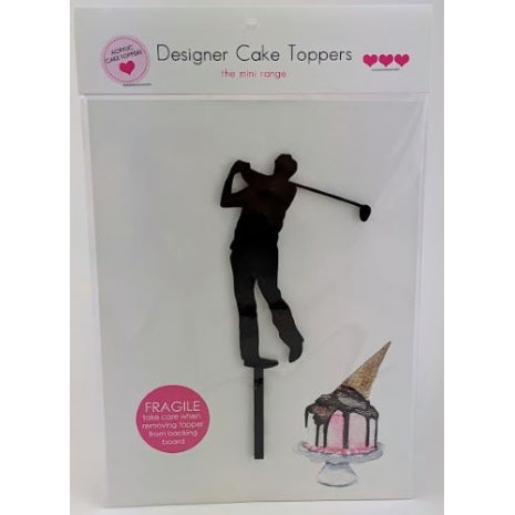 Golf - Silhouette Mini Acrylic Cake Topper