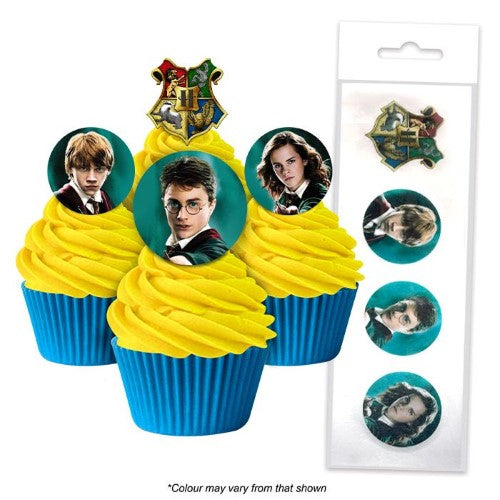 HARRY POTTER EDIBLE WAFER CUPCAKE TOPPERS 16 PIECES