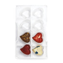 Chocolate Mould - Curved Medium Hearts (40mm) 8 cavities - Polycarbonate