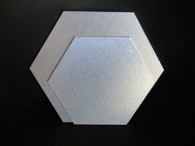 No 3 Hexagon MDF Cake Board 35cm