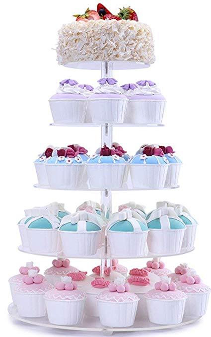 Hire - 5 Tier Acrylic Cupcake Stand