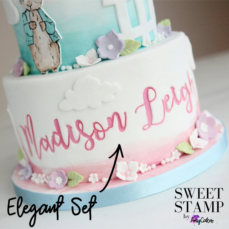 Elegant - Alphabet Set - Sweet Stamp - Fuchsia