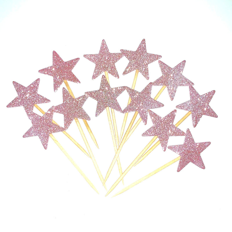 Pink - Luxe Star Cupcake Picks 12pk