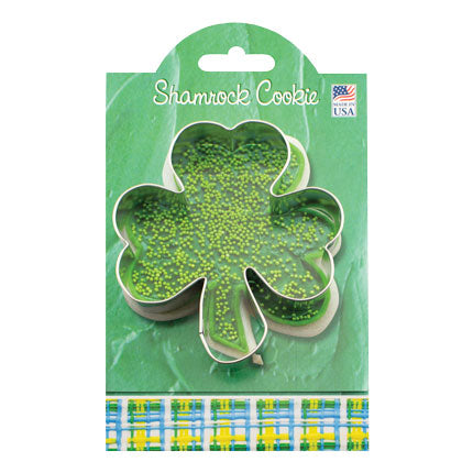 Cookie Cutter - Large Shamrock with recipe card