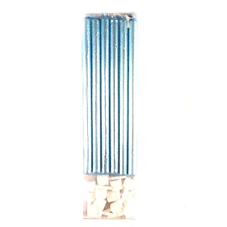 Tall Candle 12 pk – Pearl Blue