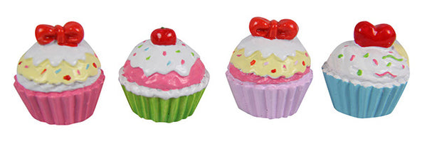 Mini Craft Cup Cake - Cake Ornament Non Edible 3pces