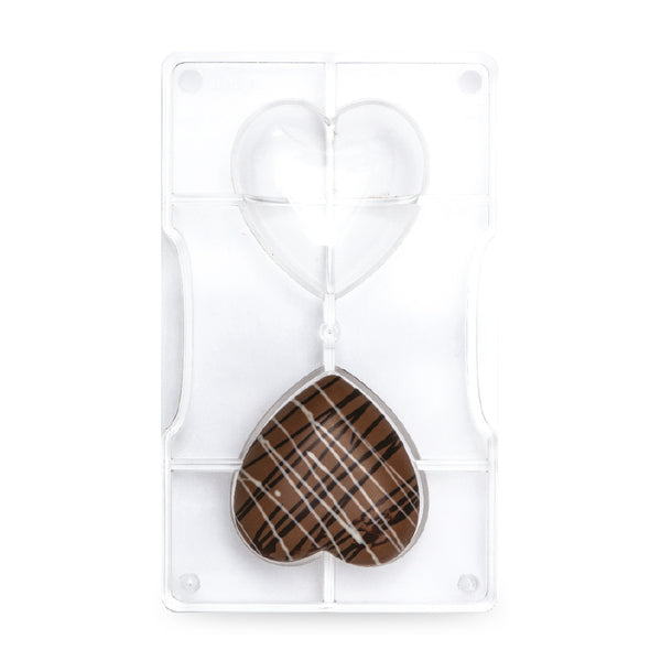 Chocolate Mould - Large Hearts (70mm) 2 cavities - Polycarbonate