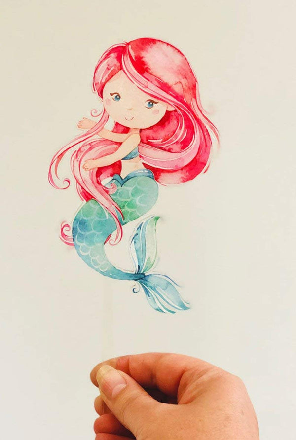 Mermaid – Printed Acrylic Cake Topper