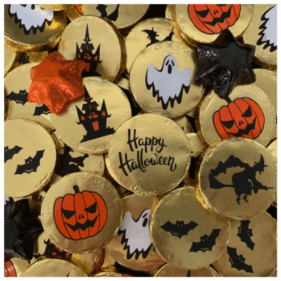 Halloween Milk Chocolate Medallions 12g