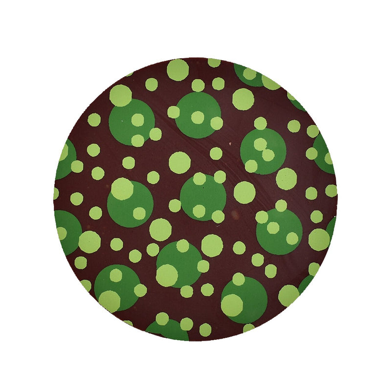 Green & Lime Multi Dot Chocolate Transfer Sheet