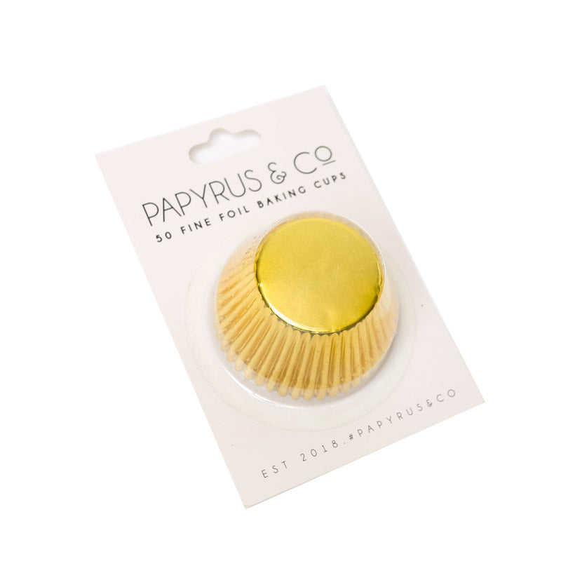 Cupcake Cups Std - Gold Foil (50 pack) - Papyrus