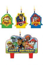 Paw Patrol Candle Set 4 Pc