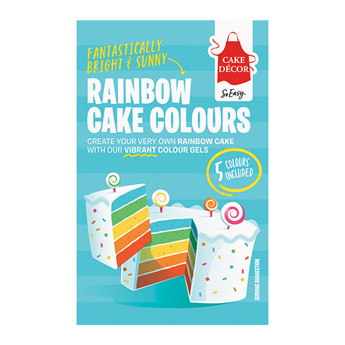 Rainbow Cake Gel Paste Colour Set 5pc - Cake Decor