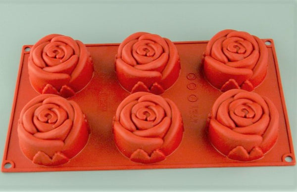Chocolate Baking Mould Silicone - Large Rose
