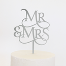 Cake Topper - Magical Mr & Mrs - Silver Mirror