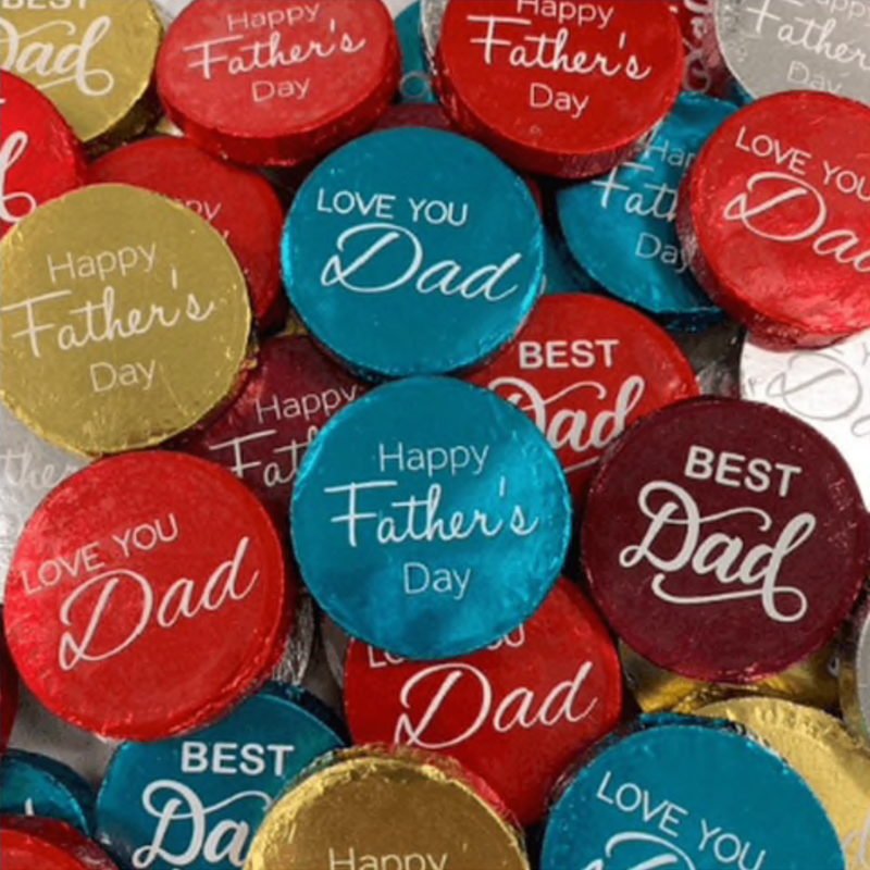 Fathers Day Milk Chocolate Medallions 12g