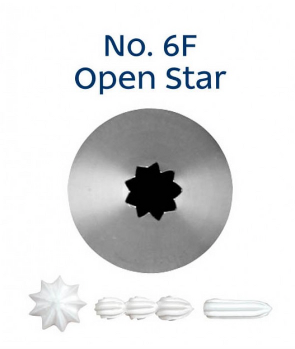 No 6F Open Star Piping Tip - Loyal
