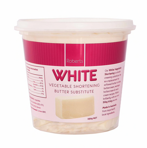 White Vegetable Shortening Butter Substitute 250G - Roberts