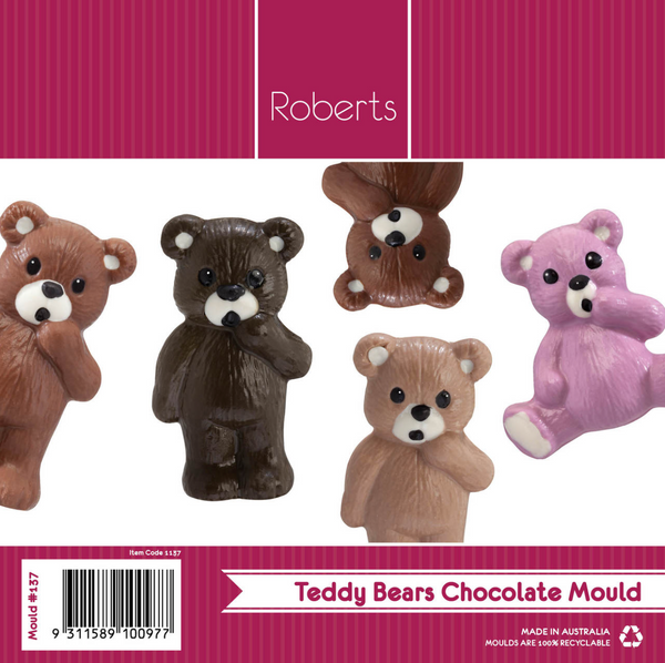 Large Teddy Bears Chocolate Mould