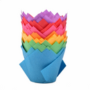 ASSTD COLORS TULIP MUFFIN WRAPS - 30 PK